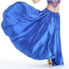 Full Circle Satin Long Skirt Swing Belly Dance Costumes Festival Skirt Dress