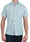 Alpha Beta Cotton Palm Tree and Pineapple Hawaiian Shirt