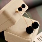 Fashion 1 Pair Women Ball Double-sided Earrings Long Dangle Jewelry Charm Hot image