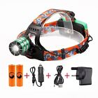 LED Zoom Headlight Torch T6 Headlamp Head Light Lamp + Charger + 18650 3000LM