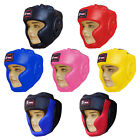 Junior Boxing Head Guard / Head Protector Martial Arts Kids Children Leather