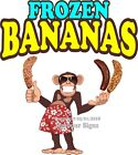 Frozen Bananas DECAL (Choose Your Size) Monkey Food Truck Concession Sticker