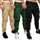 Men's Slim Fit Urban Straight Leg Trousers Casual Pencil Jogger Cargo Pants ZM
