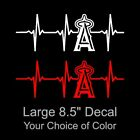 LA Angels Heartbeat Vinyl Decal/Sticker Large 8.5 x 3 Inch - Los Angeles Anaheim on Ebay