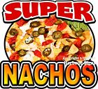 Super Nachos DECAL (CHOOSE YOUR SIZE) Chips & Cheese Food Concession Sticker
