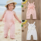Infant Baby Girls Kids Ruffle Backless Romper Jumpsuit Playsuit Clothes Outfits