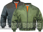 MENS MA1 FLYING BOMBER PILOT MILITARY BIKER ARMY SECURITY DOORMAN JACKET UK MADE
