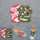 US Puppy Pet Dog Cat Camo Clothing Hoodie Apparel Puppy Camouflage Coat T-shirt