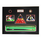 MEMORABILIA 3D Display Box All In One Snooker Cue, Balls, Chalk, SIGNED PHOTO $118.44 USD on eBay