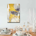 Gold Grey Abstract Stretched Canvas Print Framed Wall Art Home Office Shop Decor