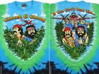 CHEECH & CHONG-FIELD OF DREAMS-2 SIDED TIE DYE TSHIRT S-M-L-XL-XXL Up In Smoke