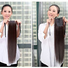 Ponytail Human Hair Extensions Wrap On Strap Straight 16-22 inch Hair Piece