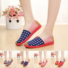 Hot Beijing Women Girl Casual Soft Ventilation Canvas Slip-on Loafers Shoes Size