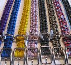 "Custom Handmade 18"" (Fits 14"" neck) Adjustable Paracord Dog Collar - Pick Colors"