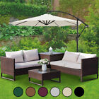 3M Garden Banana Parasol Sun Shade Patio Hanging Umbrella Cantilever With Crank