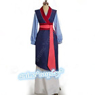 New Hua Mulan Blue Dress Mulan Princess Dress Movie Cosplay Costume Fancy Dress