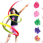 Gym Dance Ribbon Rhythmic Art Gymnastic Streamer Baton Twirling Rod Stick 4M H45