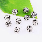 30/60pcs Tibetan silver Round Star Loose Spacer Beads Jewelry Findings DIY 6mm