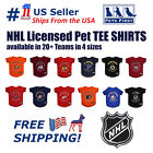 NHL Pet T-Shirt - Licensed, Wrinkle-free, stretchable Tee Shirt for Dogs & Cats. $20.99 USD on eBay