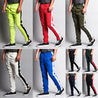 Victorious Men's Slim Fit Striped Sports Workout Techno Track Pants TR522-S1F