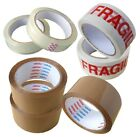 MANULI LOW NOISE BROWN PARCEL PACKING TAPES FRAGILE TAPE 48mm x 66M