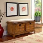 Home Styles Arts & Crafts Upholstered Storage Bench