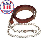 "1"" Replacement Show Halter Leather Lead With 30"" Chain by congress Leather #9076"
