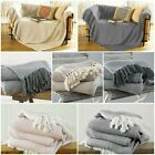 Large & XL Cotton Traditional Como Blanket Home Chair / Sofa / Bed Throws