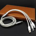 3 IN 1 MULTI PORT MULTIPURPOSE TYPE C MICRO CHARGER LONG BRAIDED USB CABLE 1