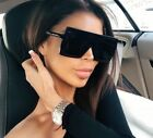 Women's Flat Top Large Square Frame Oversize Sunglasses Celebrity Fashion