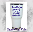 Monogram Vinyl Decal Sticker For Ramblers, Tumblers, With (Quote Dad Design )