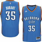 Adidas Mens Oklahoma City Thunder Kevin Durant Blue Player Swingman Road Jersey