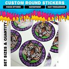 LOGO Printed Round Stickers - Custom Logo labels - Personalised labels - Postage