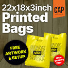Custom Print Personalised Carrier Bags | Large 22x18x3