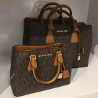 New Michael Kors Camille Small Satchel Pebbled Leather Crossbody Handbag Purse