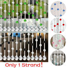 Crystal Bead String Curtain  Door Window Divider Patio Fly Screen Home Decortion