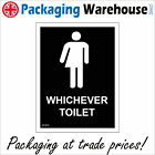 GE428 WHICHEVER TOILET SIGN WASHROOM RESTROOM BATHROOM WATER CLOSET WC LOO