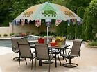 Large Cafe Patio Outdoor Parasol Handmade Elephant Embroidered Garden Umbrella
