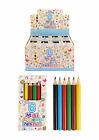 3/6/10/12/15/20/24/30 Mini-Pencil-Crayons-Pack-of-6-Colours-Party-Bag-Filler