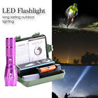 10000LM CREE T6  Portable Zoom Flashlight Torch Kit 5Mode with Battery+Charger