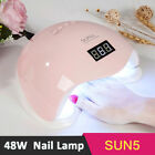Portable 48W LED Nail Dryer Curing Lamp Manicure Machine For UV Gel Nail Polish