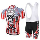 Xintown Skull Cycling Jersey & Shorts Bicycle Men Authentic Sports Jerseys Sets