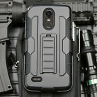 Belt Clip Holster Combo Impact Hybrid Rugged Armor Military Kickstand Phone Case