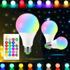 Dimmable E27 85-265V 10/15W RGB W/WW LED Light Color Change Lamp Bulb+IR Control