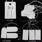 Внешний вид - 100/500Pcs Paper Jewelry Clothes Label Price Tags Swing With Elastic Tied String