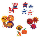 U PICK~ 48 Cupcake Toppers Rings Birthday Party Patriotic Th