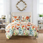 Pastoral Florals Soft Bed Linen Set Quilt Duvet Cover Bedding Set Queen King