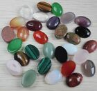 Two 14x10mm Oval Cabochons Semi-Precious Stone  Flat Back CHOICE of Stone