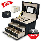 Jewellery Storage Box Watch Case Holder Ring Earring Necklaces Display Organizer