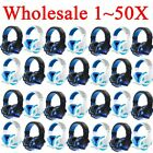 LOT 1~50PCS Gaming Headset Surround Stereo Headband Headphone USB 3.5mm W/LED ~!
